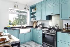 Кухня бирюзового цвета в Воронеже