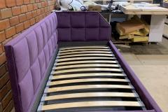 Кровать с ортопедическим основанием 900*2000 мм в наличии🤚 🔸Цена:32000 руб 👉Подъёмный механизм 👉Короб для хранения в ткани 👉Каркас фанера березы 👉Ткань мягкий велюр Arben