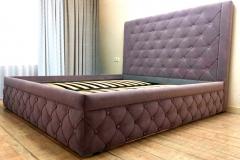 Кровать готова и установлена✔ ▫спальное место 1800*2000 мм ▫ткань Chistetika Santorini 13 #кровати #кровативоронеж #кроватимосква #кроватилипецк