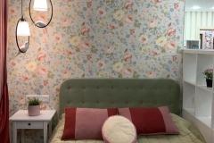 кровать зеленая