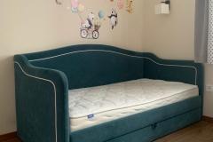 Кровать модель «Тилльда»💚 Спальное место 900*2000 мм ▫Каркас из фанеры березы ▫Качественный ППУ ▫Ткань антивандальная Chistetika ▫Также можете заказать данную модель кровати с подъёмным механизмом/ящиками для белья Для заказа данное модели по Вашим размерам, напишите нам по ссылке в шапке профиля 📌В наличии есть одна кровать данной модели в этом цвете и ткани #кроватьтилльда #кровать #кроватьдетская