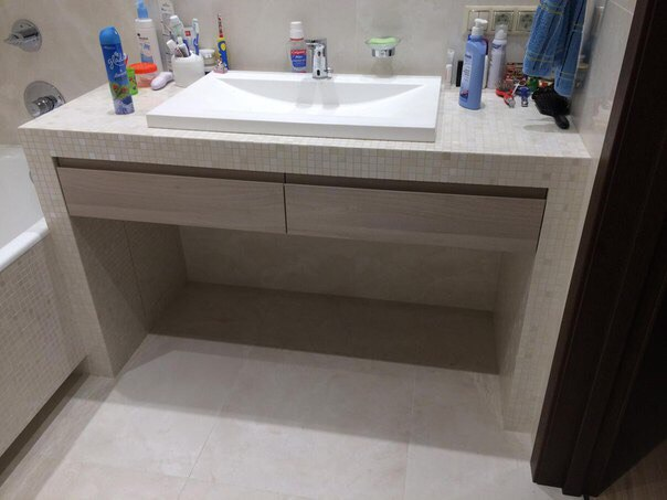 Мебель для ванной комнаты на заказ по индивидуальным проектам и размерам в Воронеже
